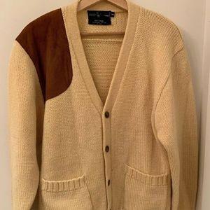 Vintage Polo Ralph Lauren cardigan sweater suede M